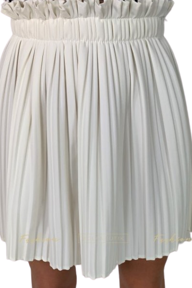Made in Italy Spódniczka plisowana biała (1)