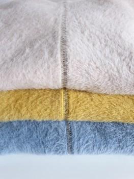 Made in Italy sweter alpaka kaptur niebieski