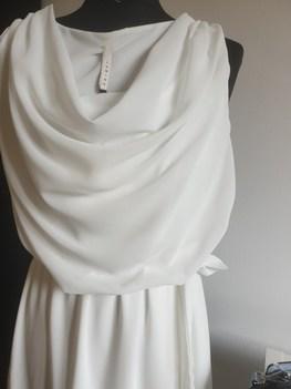 Made in Italy efektowna sukienka ecru