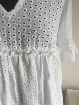 Bocca Sukienka wakacyjna biała haftowana