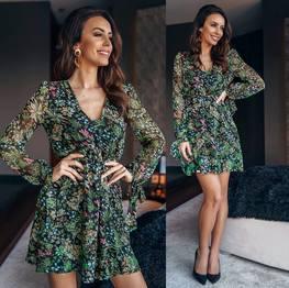 Sukienka kolorowa szyfonowa Lola Fashion