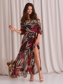 COCOMORE romantyczna sukienka szyfonowa