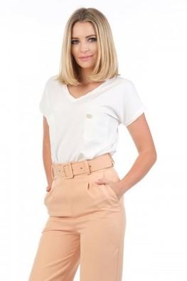 JOLMAR Bluzeczka V dwie kieszonki biała