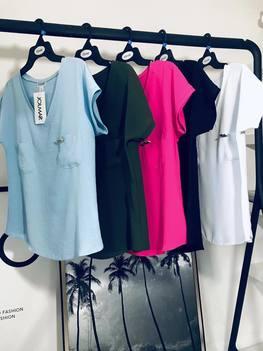 JOLMAR Bluzeczka V dwie kieszonki błękit