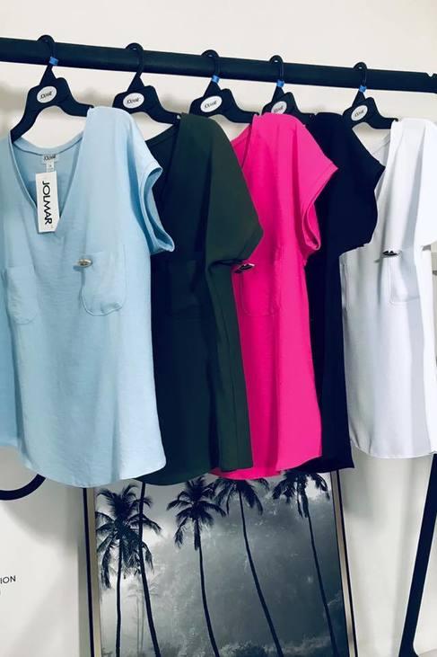 JOLMAR Bluzeczka V dwie kieszonki błękit (1)