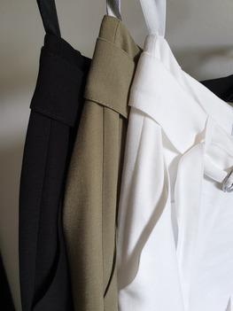 RESZKA spodnie eleganckie bojówki czarne