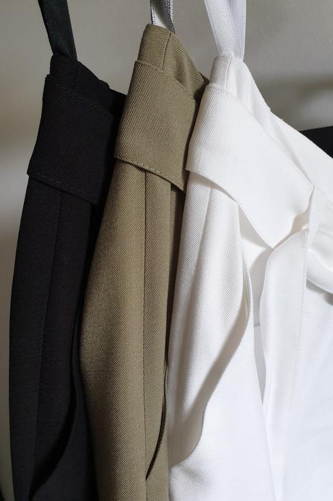 RESZKA spodnie eleganckie bojówki czarne (1)
