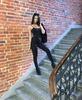 RESZKA spodnie eleganckie bojówki czarne (6)