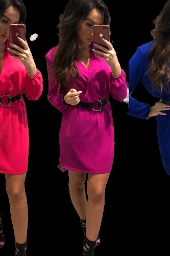 Sukienka przekładana beż Lola Fashion (1)