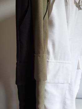 RESZKA spodnie eleganckie bojówki ecru
