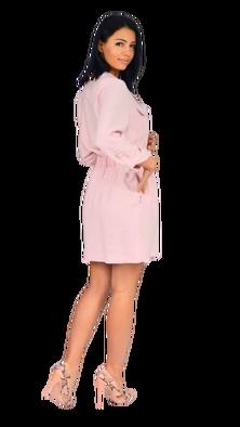 RESZKA sukienka Mela jasny róż