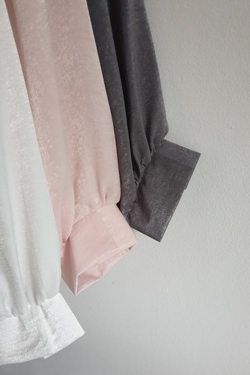 Bluzka oversize biała perłowa Lola Fashion (1)