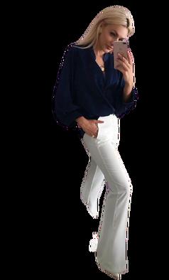 Bluzka przekładana czarna Lola Fashion