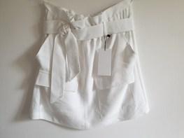 RESZKA spódniczka elegancka letnia biała