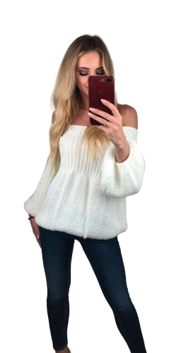 s.Moriss sweter Anabel krótki ecru