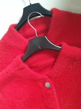 Made in Italy Bomberka alpaka czerwona napisy