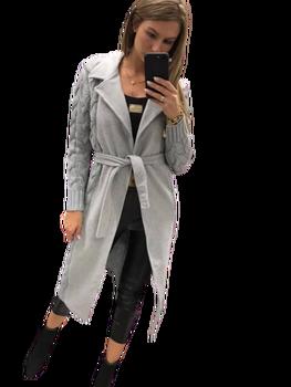 Paparazzi Fashion Płaszcz Premium szary