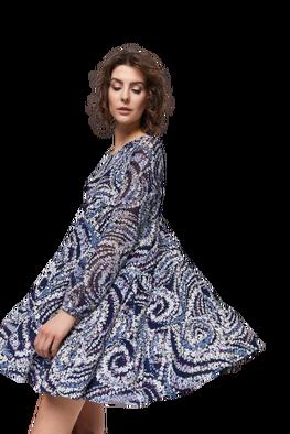 Blue Shadow Sukienka Torino granat niebieski