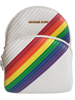 MICHAEL KORS BACKPACK OPTIC WHITE RAINBOW