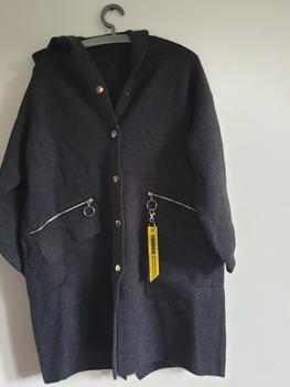 Płaszczyk swetrowy z kaszmirem grafit