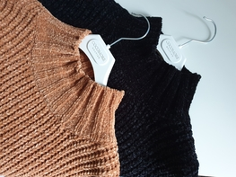 COCOMORE Sweter Woolen Premium brązowy
