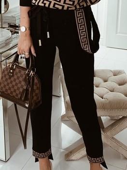 COCOMORE Spodnie Goldie czarne aztecki wzór