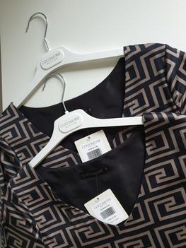 COCOMORE Sukienka LABIRYNTH czarna azteckie wzory