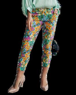 Spodnie cygaretki wzór kolor Lola Fashion