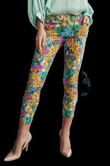 Spodnie cygaretki wzór kolor Lola Fashion (1)