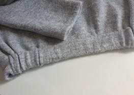 COCOMOORE Sweterek bomberka jasny szary