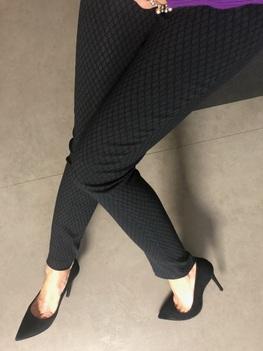 Lola Fashion spodnie cygaretki czarny żakard