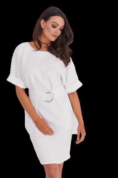 COCOMOORE Sukienka JULIE elegancka ecru (1)