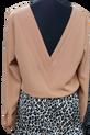 BOCCA Bluzka Elegancka ciepły beż ozdobny tył V (1)