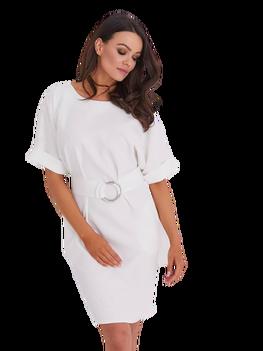 COCOMOORE Sukienka JULIE elegancka jasny szary