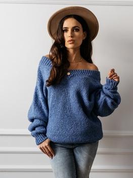 COCOMORE Sweter FLUFFY niebieski