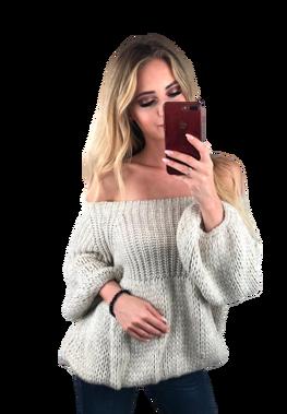 s.Moriss sweter Anabel krótki jasny beż
