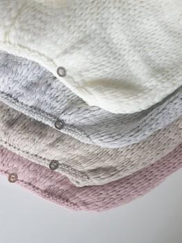s.Moriss sweter Anabel krótki jasny szary