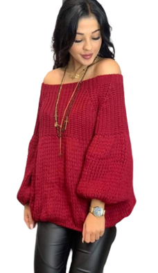 s.Moriss sweter Anabel krótki bordo