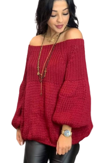 s.Moriss sweter Anabel krótki bordo (1)
