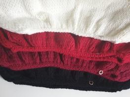 s.Moriss sweter Anabel długi czerwony