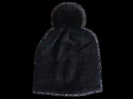 Made in Italy Czapka typu Alpaka czarna pompon