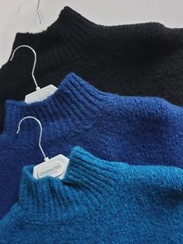 COCOMORE Sweter ciemny niebieski ze stójką