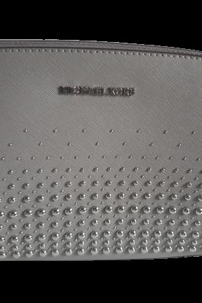 MICHAEL KORS torebka MINI SELMA PEARL GREY ćwieki silver (1)