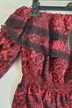 Lola Fashion bluzka hiszpanka panterka czerwona (7)