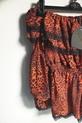 Lola Fashion bluzka hiszpanka panterka pomarańczowa (6)