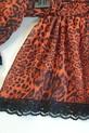 Lola Fashion bluzka hiszpanka panterka pomarańczowa (2)