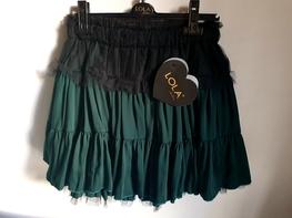 Lola Fashion elegancka spódnica zielona falbana tiul