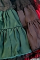 Lola Fashion elegancka spódnica zielona falbana tiul (2)