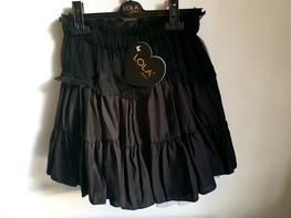 Lola Fashion spódnica elegancka czarna falbana tiul