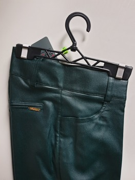 Sigma for You Spodnie woskowane ciemna zieleń